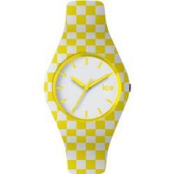Ice-Watch ICE.60.YW.U.S.13 ICE SIXTIES Yellow 60's Unisex Uhr Unisex Kautschuk Kunststoff 100m Analog weiss