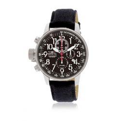 "INVICTA Herren-Armbanduhr INVICTA - I-FORCE - 1512 - Men's ""Lefty""Military Watch - Chronograph - Black Dial - Black sturdy cloth Strap Chronograph Leder Schwarz 1512"