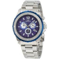 Invicta Herren 1009 II Chronograph Blue Dial Uhr aus Edelstahl