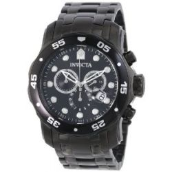 Invicta Herren 0076 Pro Diver Kollektion Chronograph Black Ion-Plated Stainless Steel Uhr