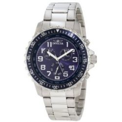 Invicta 6621 Men's II Collection Stainless Steel Blue & Black Dial Chronograph Watch