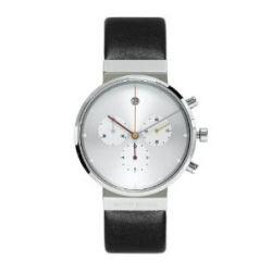 Jacob Jensen Unisex-Armbanduhr Chronograph Series 606 Chronograph leder schwarz 606