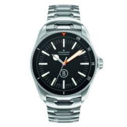 Junghans Herren-Armbanduhr XL Bogner Willy Blue Automatlc Analog Automatik Edelstahl 027/3211.44