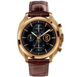 Junghans Herren-Armbanduhr XL Bogner Willy Chronoscope Chronograph Automatik Leder 027/7263.00