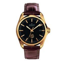 Junghans Herren-Armbanduhr XL Bogner Willy Automatic Analog Automatik Leder 027/7281.00