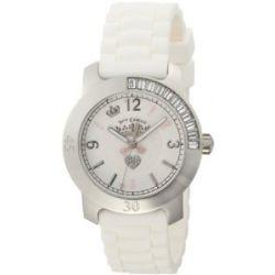 JUICY COUTURE Damen-Armbanduhr BFF Analog kautschuk weiss 1900548
