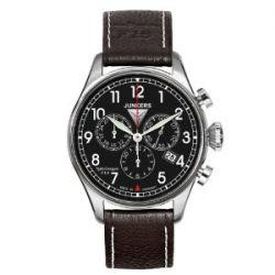 Junkers Herren-Armbanduhr XL Spitzbergen F13 Chronograph Quarz Leder 61862