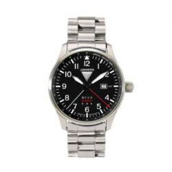 Junkers Herren-Armbanduhr XL Hugo Analog Quarz Edelstahl 6644M2