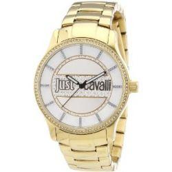 Just Cavalli Damen-Armbanduhr Huge Analog Quarz Edelstahl beschichtet R7253127506