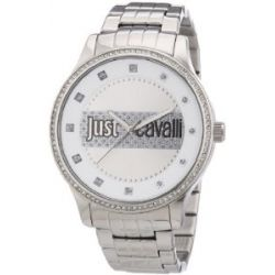 Just Cavalli Damen-Armbanduhr XL Huge Analog Edelstahl R7253127505