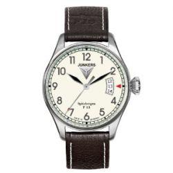 Junkers Herren-Armbanduhr XL Spitzbergen F13 Analog Quarz Leder 61705