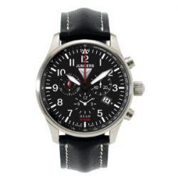 Junkers Herren-Armbanduhr XL Hugo Chronograph Quarz Leder 66842