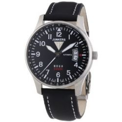 Junkers Herren-Armbanduhr XL Hugo Analog Automatik Leder 66642
