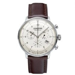 Junkers Herren-Armbanduhr XL Bauhaus Chronograph Quarz Leder 60865