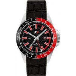 Jacques Lemans, Herrenarmbanduhr, GMT rot/schwarz U