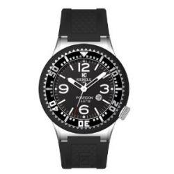 Kienzle Herren-Armbanduhr Poseidon eXtra Large Slim Analog Silikon schwarz 720/3070