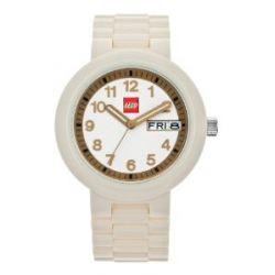 LEGO Erwachsenen Uhr - Classic weiß/gold