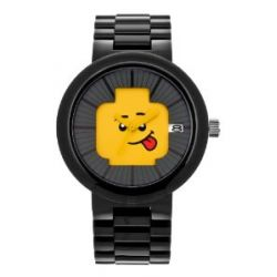 LEGO Erwachsenen Uhr - Hapiness schwarz/gelb