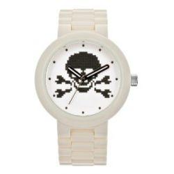 LEGO Erwachsenen Uhr - Skull weiß