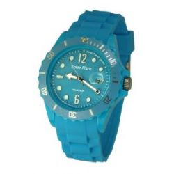 Lifemax Herren-Armbanduhr Lifemax Solar Flare Watch Cyan 1355GC Analog Plastik Blau 1355GC