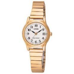 Lorus Damen-Armbanduhr XS Classic Analog Quarz Edelstahl beschichtet RJ206AX9