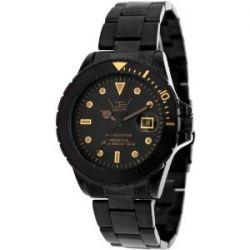 LTD Watch LTD-210205 Steel Diver Men's Black Dial Black Bracelet Watch