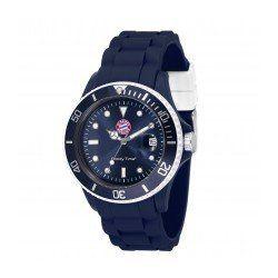 MADISON N.Y. Armbanduhr Uhr Candy Time for FC Bayern München Silikon blau-weiß