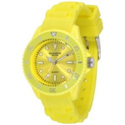 Pastell Gelbe Madison New York Candy Time Mini Damen Armbanduhr