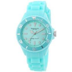 Pastell Grüne Madison New York Candy Time Mini Damen Armbanduhr