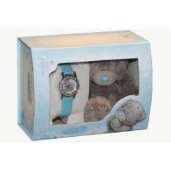 Me To You Tatty Teddy blaue Armbanduhr und Teddy Set