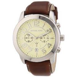 Michael Kors Unisex-Armbanduhr Chronograph Quarz Leder MK8292