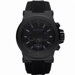 Michael Kors Herren-Armbanduhr XL Chronograph Quarz Kautschuk MK8152