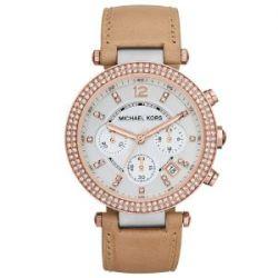 Michael Kors Damen-Armbanduhr Chronograph Quarz Leder MK5633