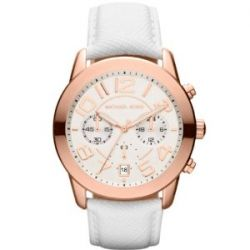 Michael Kors Damen-Armbanduhr Chronograph Quarz Leder MK2289