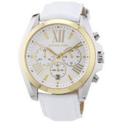 Michael Kors Damen-Armbanduhr XL Chronograph Quarz Leder MK2282