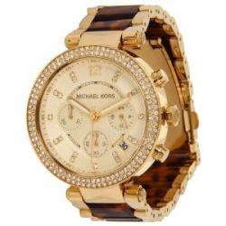 Michael Kors Damen-Armbanduhr Parker Chronograph Quarz verschiedene Materialien MK5688