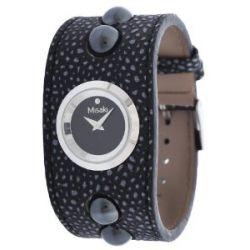 Misaki Damen Armbanduhr Schwarz QCRWSMOKE