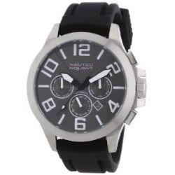 Nautec No Limit Herren-Armbanduhr XL HALO Analog Automatik Kautschuk HA AT/RBSTSTOR