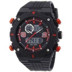 Nautec No Limit Herren-Armbanduhr XL Sprint AD Analog - Digital Quarz Plastik SP QZ-AD/PCBKPCBKBK-RD