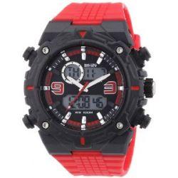 Nautec No Limit Herren-Armbanduhr XL Sprint AD Analog - Digital Quarz Plastik SP QZ-AD/PCRDPCBKBK-RD