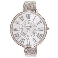 Naf Naf Damen-Armbanduhr Alyce Quarz analog Stahl silberfarben N10144-204