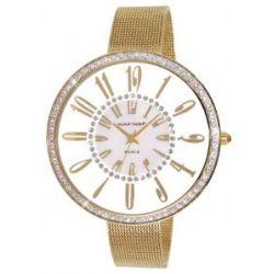Naf Naf Damen-Armbanduhr Alyce Quarz analog Stahl goldfarben N10144G-101
