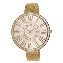 Naf Naf Damen-Armbanduhr Alyce Quarz analog Stahl goldfarben N10144G-102