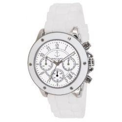 Naf Naf Damen-Armbanduhr Regate Quarz analog Silikon Weiß N10049-201