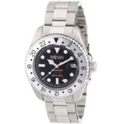 Nautec No Limit Herren-Armbanduhr Deep Sea DS AT-GMT/STSTSLBK