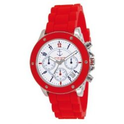 Naf Naf Damen-Armbanduhr Regate Quarz analog Silikon Rot N10049-209