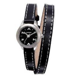 Naf Naf Damen-Armbanduhr Minny Quarz analog Leder Schwarz N10112-203
