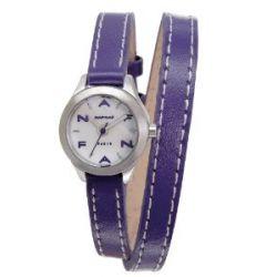Naf Naf Damen-Armbanduhr Minny Quarz analog Leder Violett N10112-208