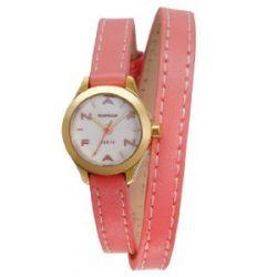 Naf Naf Damen-Armbanduhr Minny Quarz analog Leder Rosa N10112-111