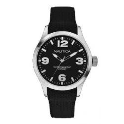 Nautica Herren-Armbanduhr XL Analog Quarz Silikon A11593G